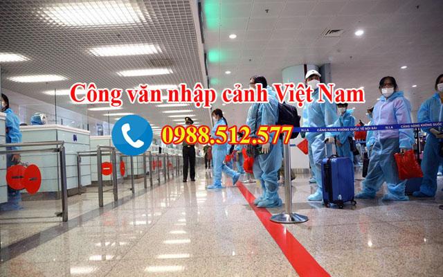 Công văn nhập cảnh Việt Nam cho chuyên gia tại TPHCM