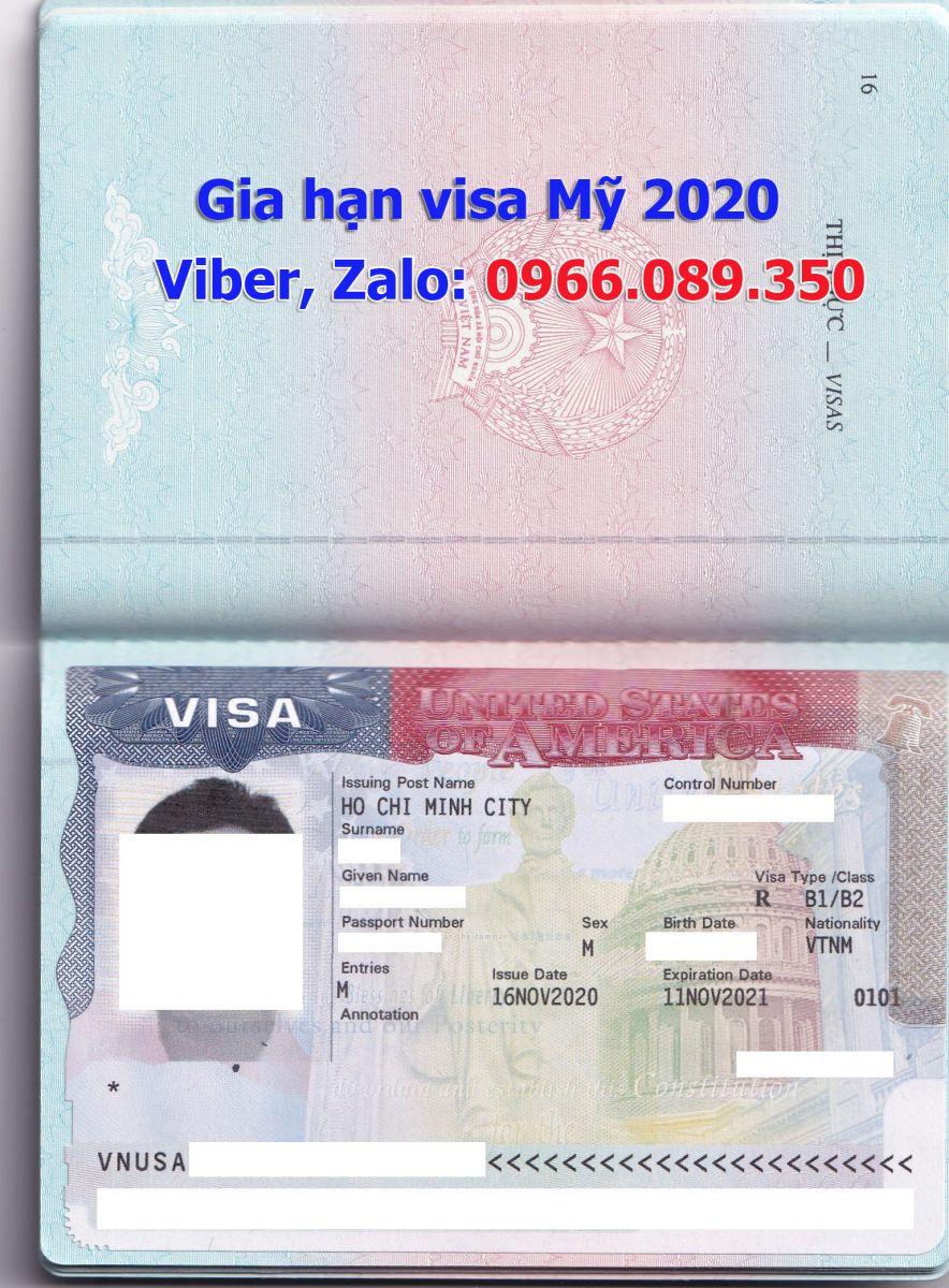 dịch vụ gia hạn visa Mỹ tại tphcm 2020