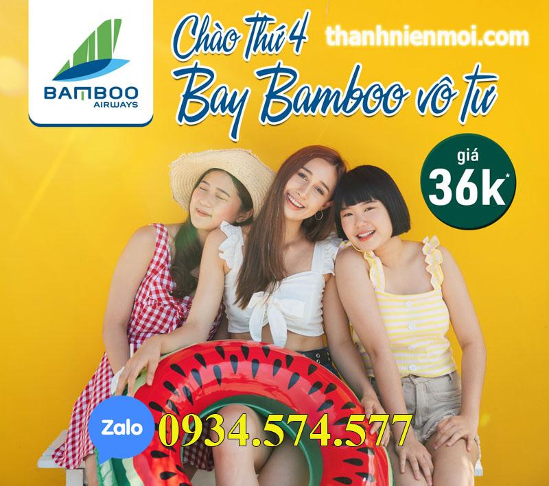 Vé máy bay trong nước Bamboo Airway giảm giá thứ tư hằng tuần