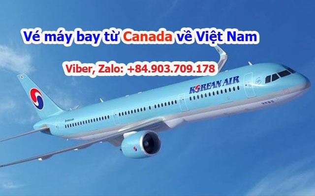Vé máy bay về Việt Nam từ Canada của Korean Airlines