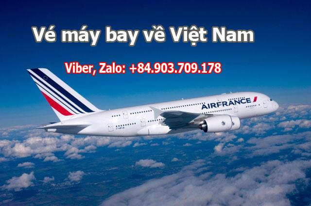 Vé máy bay từ Châu Âu về Việt Nam giá rẻ