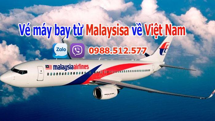 Vé máy bay từ Malaysia về Việt Nam cho chuyên gia, hồi hương