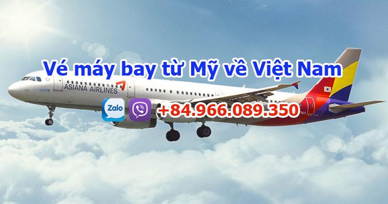 Vé máy bay từ Mỹ về Việt Nam của Asiana Airlines