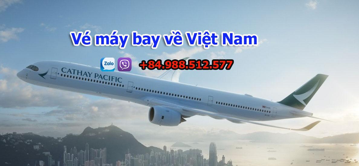 Vé máy bay về Việt Nam cho chuyên gia, hồi hương