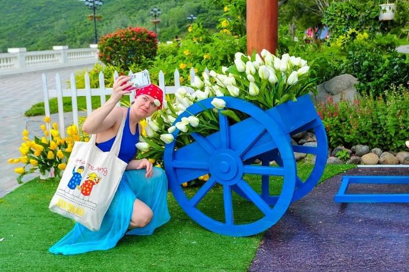 Vườn hoa Tulip ở Vinpearl Land Nha Trang 6