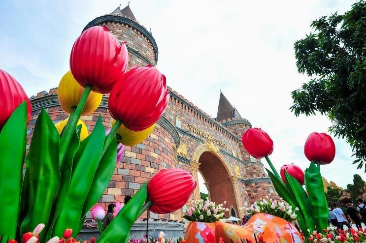 Vườn hoa Tulip ở Vinpearl Land Nha Trang 7