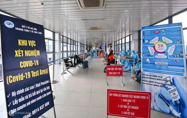 Xét nghiệm nhanh Covid 19 tại Sân Bay Nội Bài Hà Nội 1